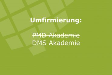 Umfirmierung PMD Projektmanagement Deutschland Akademie GmbH